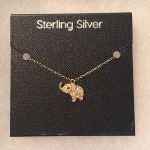 Sterling silver with gold necklace